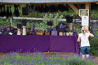 Mayfield's lavender farm shop with its array of goods