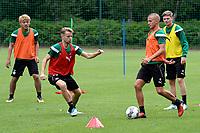 MARIENHOF - Voetbal, Trainingskamp FC Groningen , seizoen 2017-2018, 13-07-2017, FC Groningen speler Jesper Drost en FC Groningen speler Robbert de Vos