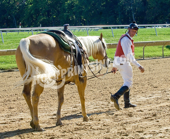 Lance winning at Delaware Park on 9/19/12