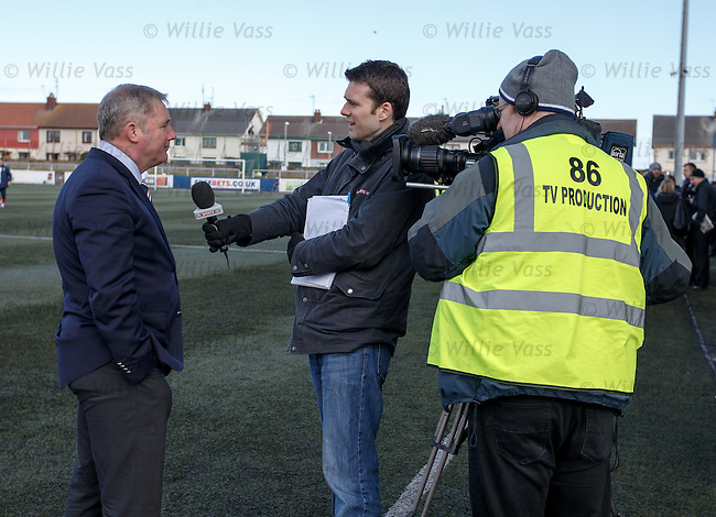 Ally McCoist upbeat as he speaks to Charles Paterson of Sky Sports after the match