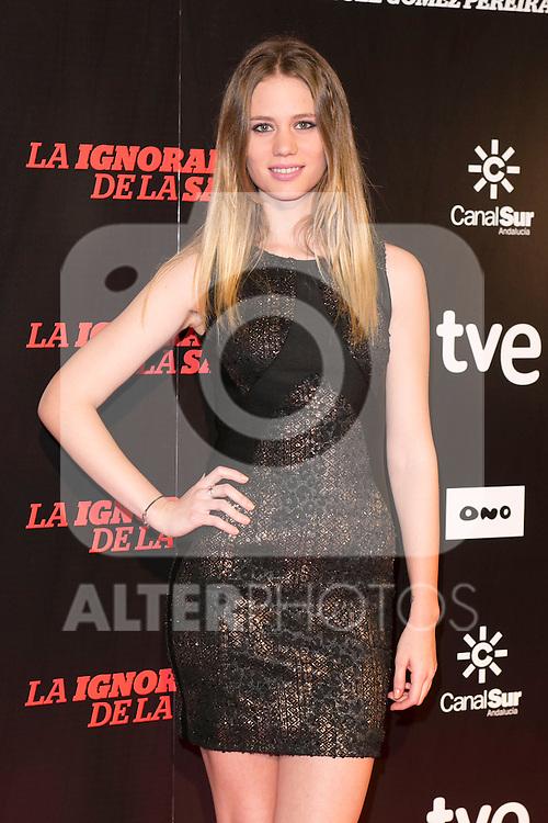 """Arancha Marti attends """"La Ignorancia de la Sangre"""" Premiere at Capitol Cinema in Madrid, Spain. November 13, 2014. (ALTERPHOTOS/Carlos Dafonte)"""