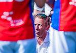 AMSTELVEEN - coach Michiel van der Struijk (SCHC)   tijdens  de hoofdklasse competitiewedstrijd hockey heren,  Amsterdam-SCHC (3-1).  COPYRIGHT KOEN SUYK