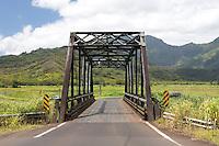 Historic Hanalei Bridge on the north shore of Kauai, Hawaii