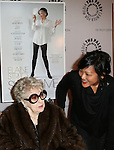 Elaine Stritch and Director Chiemi Karasawa attend the 'Elaine Stritch: Shoot Me' screening at The Paley Center For Media on February 19, 2014 in New York City.