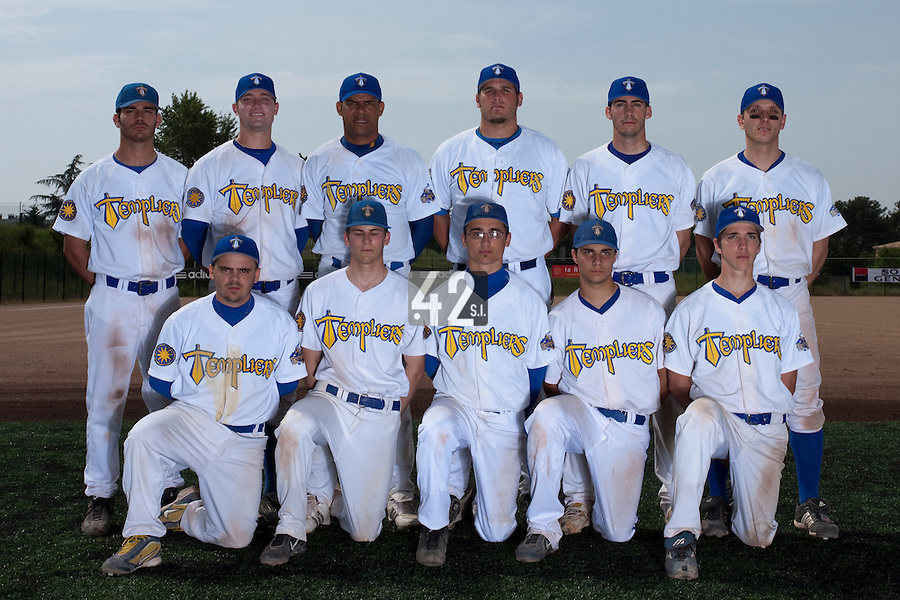 23 May 2009: Team Senart poses prior to a game against Savigny during the 2009 challenge de France, a tournament with the best French baseball teams - all eight elite league clubs - to determine a spot in the European Cup next year, at Montpellier, France. Savigny wins 4-1 over Senart.
