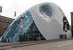 Modern glass dome shop building, Eindhoven city centre, North Brabant province, Netherlands