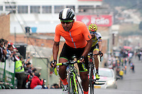 TUNJA - COLOMBIA- 21- 02-2016: Edwin Avila nuevo Campeón Nacional de la prueba ruta individual categoría elite hombres que se corrió entre las ciudades de Sogamoso y Tunja en una distancia 174,6 km kilometros de Los Campeonato Nacionales de Ciclismo 2016, que se realizan en Boyaca. / Edwin Avila new National Champion of the Elite test individual route men that was conducted between the towns of Sogamoso and Tunja at a distance of 174,6 km of the National Cycling Championships 2016 performed in Boyaca. / Photo: VizzorImage / Cesar Melgarejo / Cont.