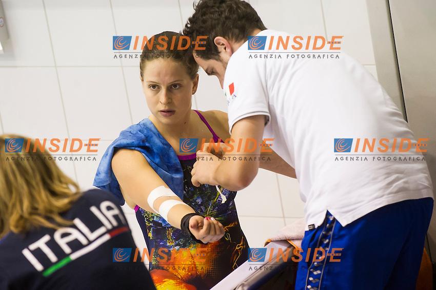 Noemi Batki ITA<br /> Platform 10m Women preliminary<br /> Day 02 10/06/2015  <br /> 2015 Arena European Diving Championships<br /> Neptun Schwimmhalle<br /> Rostock Germany 09-14 June 2015 <br /> Photo Giorgio Perottino/Deepbluemedia/Insidefoto