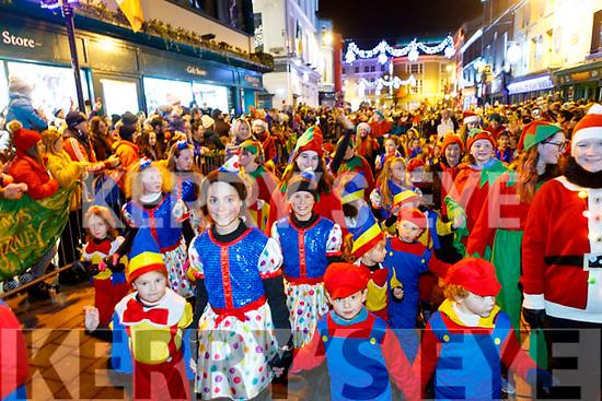 Christmas parade in Killarney on Saturday night.