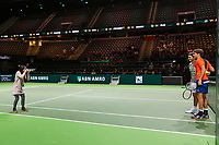 Rotterdam, Netherlands, 12 Februari, 2018, Ahoy, Tennis, ABNAMROWTT, Roger Federer (SUI), Robin Haase (NED)<br />