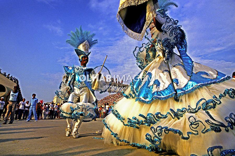 Desfile de carnaval da Portela, Rio de Janeiro. 1989. Foto de Juca Martins.