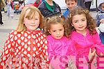 Grace Savage, Farrah Leahy, Kiela Leahy at Feile na Bláth at Tralee Square on Saturday