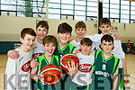 Squad members of the Mercy Mounthawk U14 Basketball team who qualified for the All Ireland basketball series.L-r, Jack Doyle, Cian O'Shea, Killian Litchfield, Donal O'Sullivan, Fionan Egan, Jack McCormack, Sean Rice and Seamie Sugrue.
