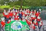 "On Wednesday the pupils of Derryquay, NS, Blennerville with their family watched and delighted when Kieran ""Star"" Donnehy Kerry Senior Footballer was given the honour to raise the first Green Flag  at the school for their partisapation in keeping the school and surounding area litter free."