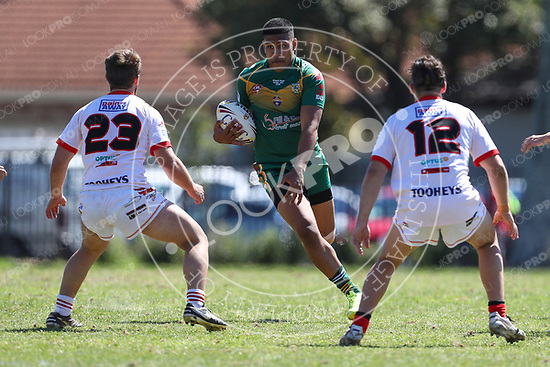 The Wyong Roos play Woy Woy Eagles in the Central Coast Rugby League Division U19's Grand Final at Woy Woy Oval on 17 September, 2016 in Woy Woy, NSW Australia. (Photo by Paul Barkley/LookPro)