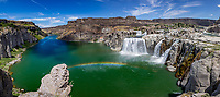 "Shoshone Falls is a waterfall on the Snake River in southern Idaho, approximately 3 miles northeast of the city of Twin Falls. Sometimes called the ""Niagara of the West,"" Shoshone Falls is 212 feet high—45 feet higher than Niagara Falls—and flows over a rim nearly 1,000 feet wide."
