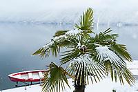 Snow on Lake Lugano, Ticino, Switzerland, February 2013.