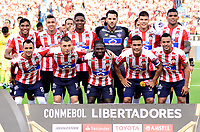 BARRANQUILLA - COLOMBIA, 2-05-2018 Formación   del Atlético Junior de Colombia  contra el Boca Juniors de Argentina durante partido por la fecha 4 ,grupo H , de la Copa Conmebol Libertadores de América    jugado en el estadio Metropolitano Roberto Meléndez de la ciudad de Barranquilla. /Team  of Atletico Junior of Colombia  agaisnt of Boca Juniors of Argentina   during the match for the date 4 , group H  of Conmebol Libertadores Cup 2018 played at the Metropolitano Roberto Melendez Stadium in Barranquilla city. Photo: VizzorImage / Alfonso Cervantes / Contribuidor