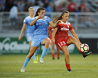 Boyds, MD -Saturday August 26, 2017: Meggie Dougherty Howard, Sofia Huerta during a regular season National Women's Soccer League (NWSL) match between the Washington Spirit and the Chicago Red Stars at Maureen Hendricks Field, Maryland SoccerPlex.