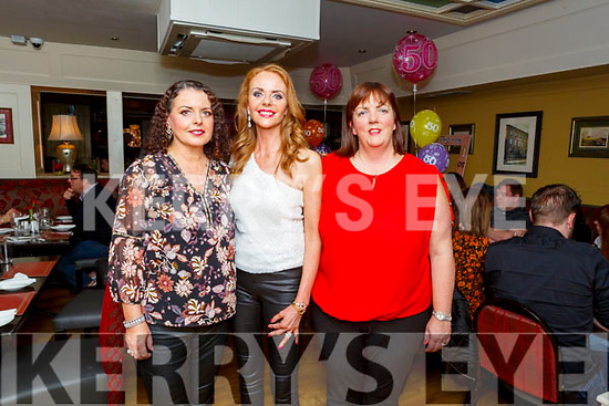 Karen Delaney, Emer O'Connor and Helen Geary having Triple Birthday celebrations in the Brogue Inn on Saturday night.
