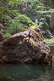USA, Oregon, Wild and Scenic Rogue River in the Medford District, the Mule Creek Swimming Hole