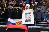 Russische Fans - 15.11.2018: Deutschland vs. Russland, Red Bull Arena Leipzig, Freundschaftsspiel DISCLAIMER: DFB regulations prohibit any use of photographs as image sequences and/or quasi-video.