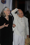 """Lois Smith & David Margulies (in play) at the Opening Night party of Signature Theatre Company's """"The Illusion"""" on June 5, 2001 at the West Bank Cafe with the play at the Peter Norton Space, New York City, New York.  (Photo by Sue Coflin/Max Photos)"""