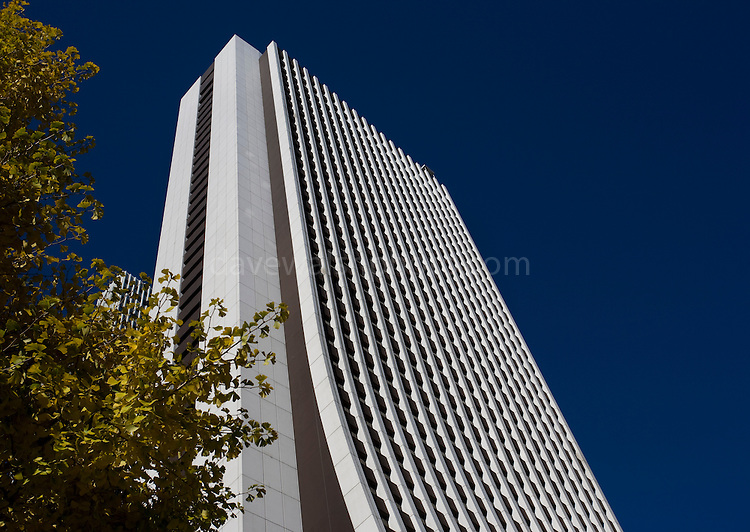 The 200-metre high Sompo Japan Head Office in Shinjuku's skyscraper district. The building was completed in 1976 and designer by Uchida Shozo..