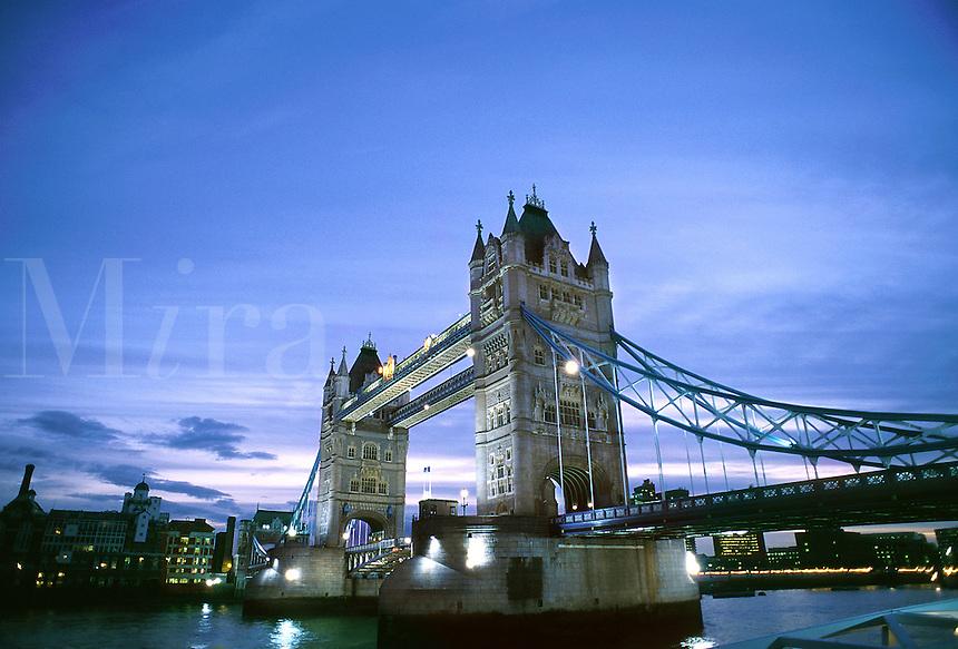 Tower Bridge at dusk. London, England.