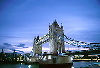Tower Bridge at dusk. London, England.