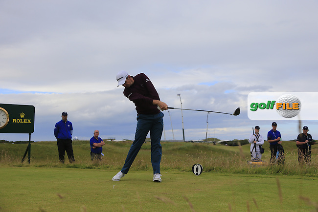 Justin Rose (ENG) tees off the 15th tee during Sunday's Round 3 of the 144th Open Championship, St Andrews Old Course, St Andrews, Fife, Scotland. 19/07/2015.<br /> Picture Eoin Clarke, www.golffile.ie