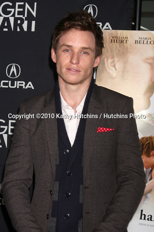 "Eddie Redmayne.arriving at ""The Yellow Handkerchief"" LA Premiere.Pacific Design Center Silver Screen Theater.Los Angeles, CA.February 18, 2010.©2010 Kathy Hutchins / Hutchins Photo...."