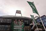 13.03.2020, Am wohninvest WESERSTADION,, Bremen, GER, 1.FBL, Werder Bremen Feature -, im Bild<br /> <br /> <br /> Werder Fahne und Lichmast<br />  Feature<br /> Foto © nordphoto / Kokenge