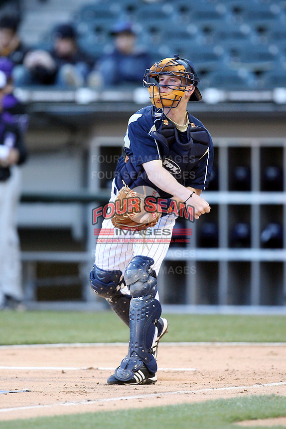 April 15, 2009: Ryan Connolly (10) of the Notre Dame Fighting Irish at US Cellular Field in Chicago, IL.  Photo by: Chris Proctor/Four Seam Images