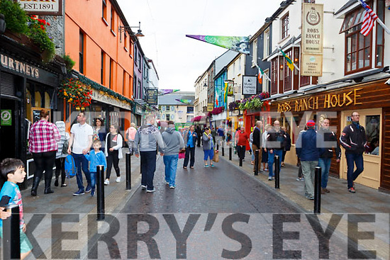 Plunkett Street in the centre of the town was pedestrianised on Tuesday and will remain closed to traffic every evening from 7pm to 7am for the month of August.