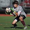 Kevin McNiff, Garden City goalie, makes a save during the first half of a Nassau County Conference A1 varsity boys soccer game against Great Neck North at Garden City High School on Monday, Sept. 12, 2016. The game ended in a scoreless tie.