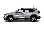 Car driver side profile view of a 2018 Jeep Cherokee Latitude 5 Door SUV