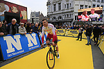 Cofidis at the team presentation in Antwerp before the start of the 2019 Ronde Van Vlaanderen 270km from Antwerp to Oudenaarde, Belgium. 7th April 2019.<br /> Picture: Eoin Clarke | Cyclefile<br /> <br /> All photos usage must carry mandatory copyright credit (&copy; Cyclefile | Eoin Clarke)