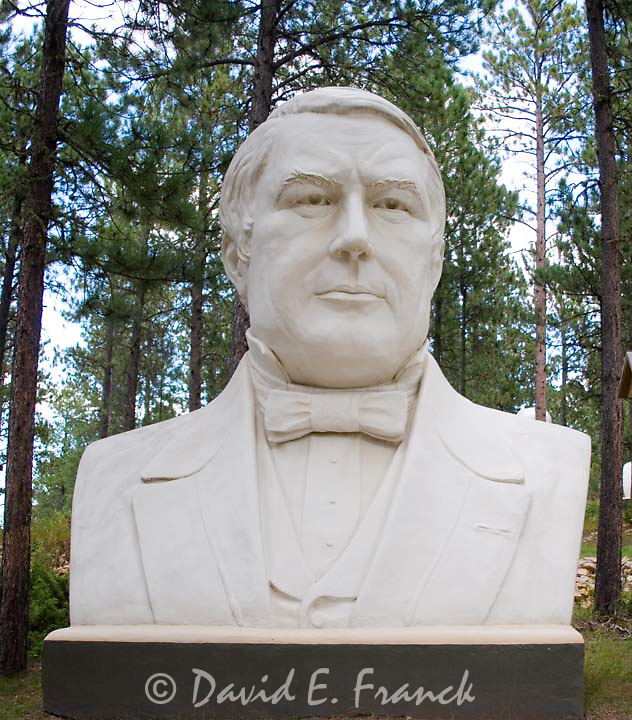 Millard Fillmore bust by sculptor David Adickes at Presidents Park in Lead South Dakota
