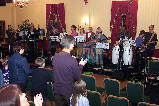 The Solid Rock Church performing thier Gospel music in the Boyne Valley Hotel..Picture: Paul Mohan/Newsfile