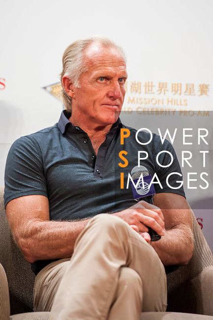 XXX attends a press conference during the Mission Hills Celebrity Pro-Am on 24 October 2014, in Haikou, China. Photo by Xaume Olleros / Power Sport Images