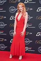Victoria Clay at the Grand Prix Ball at the Hurlingham Club, London on July 4th 2018<br /> CAP/ROS<br /> &copy;ROS/Capital Pictures