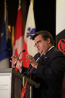 Montreal- CANADA - October 20 - The Mayor of Montreal, Denis Coderre, delivers a speech to the Canadian Club of Montreal on October 20, 2014.<br />