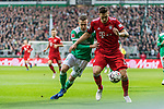 01.12.2018, Weserstadion, Bremen, GER, 1.FBL, Werder Bremen vs FC Bayern Muenchen<br /> <br /> DFL REGULATIONS PROHIBIT ANY USE OF PHOTOGRAPHS AS IMAGE SEQUENCES AND/OR QUASI-VIDEO.<br /> <br /> im Bild / picture shows<br /> Johannes Eggestein (Werder Bremen #24) im Duell / im Zweikampf mit Niklas S&uuml;le / Suele (FC Bayern Muenchen #04), <br /> <br /> Foto &copy; nordphoto / Ewert
