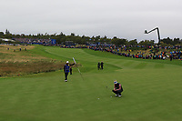 Suzann Pettersen of Team Europe on the 1st green during Day 2 Fourball at the Solheim Cup 2019, Gleneagles Golf CLub, Auchterarder, Perthshire, Scotland. 14/09/2019.<br /> Picture Thos Caffrey / Golffile.ie<br /> <br /> All photo usage must carry mandatory copyright credit (© Golffile | Thos Caffrey)