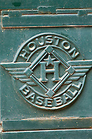 The Houston Baseball logo on a gate at Minute Maid Park on March 4, 2011 in Houston, Texas.  Photo by Brian Westerholt / Four Seam Images
