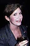 Carrie Fisher photographed on November 11, 1987 in New York City.