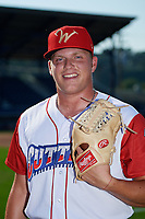Williamsport Crosscutters pitcher Eric White (22) poses for a photo before a game against the Mahoning Valley Scrappers on August 28, 2018 at BB&T Ballpark in Williamsport, Pennsylvania.  Williamsport defeated Mahoning Valley 8-0.  (Mike Janes/Four Seam Images)