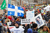 Montreal, CANADA - File - Demonstration against the increase of kindergarden fees propose by the Quebec Liberal Goverment, Nov. 9, 2014.