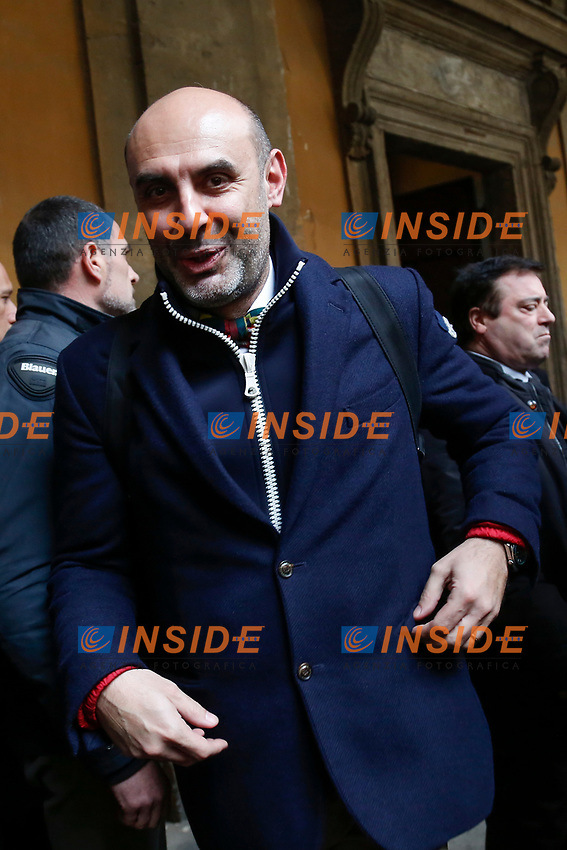 Northern League senator  and ultra-conservative Catholic Simone Pillon<br /> Rome February 19th 2019. Senate immunity commission at Sant'Ivo alla Sapienza palace.  The commission voted to retain immunity from prosecution for the Minister of Internal Affairs Matteo Salvini. Last August 20th a ship, carrying 177 migrants (among them many minors) docked in the harbour of Catania but Minister Salvini took the decision to block migrants of Diciotti ship at sea. For that reason the magistracy accused the minister of kidnapping.<br /> Foto Samantha Zucchi Insidefoto